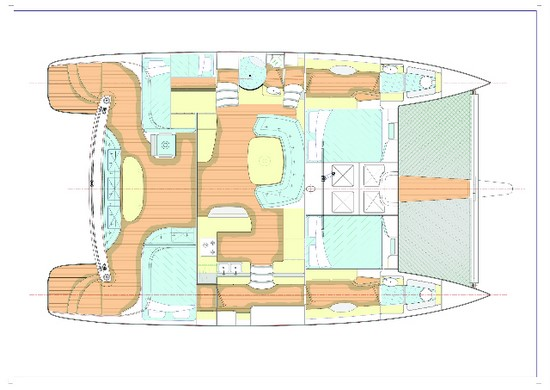 Fusion 40 Cabin Layout