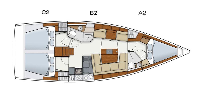 Hanse 415 Layout