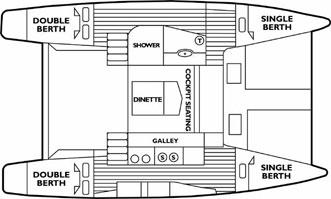 Seawind 1000 Floor Plan